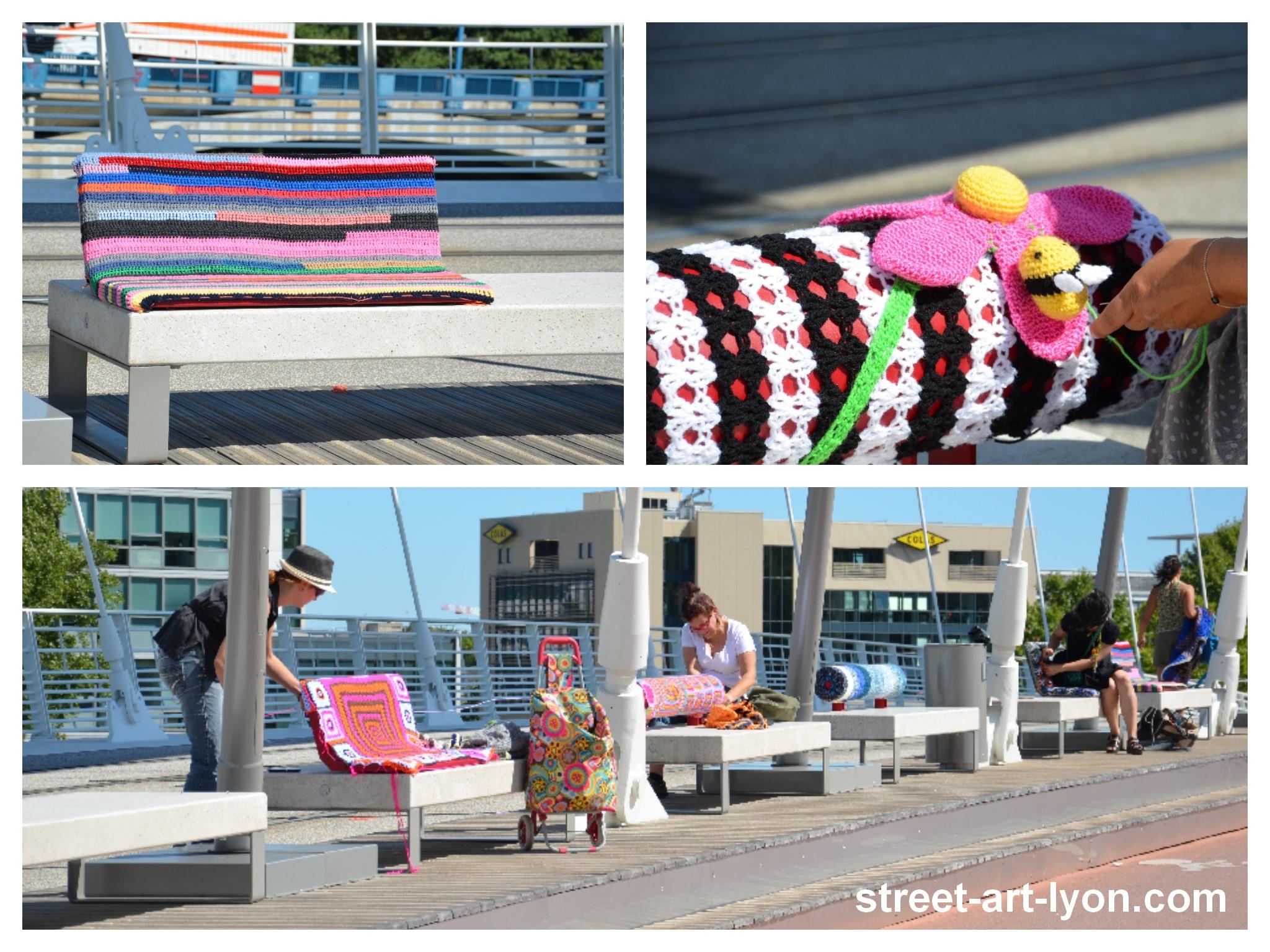 liberté yarn bombing