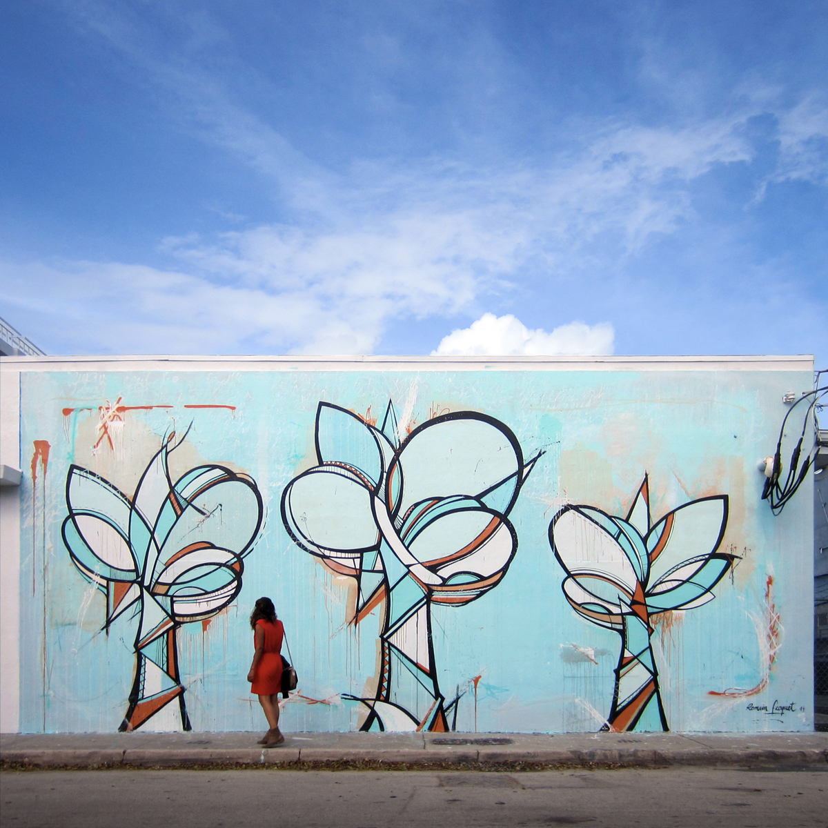 Romain Froquet Trees, Miami, Wynwood district, 2014