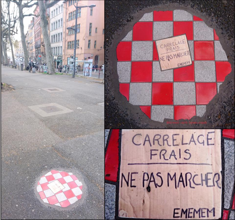 Carrelage Frais Ne Pas Marcher STREETARTLYON - Art et carrelage