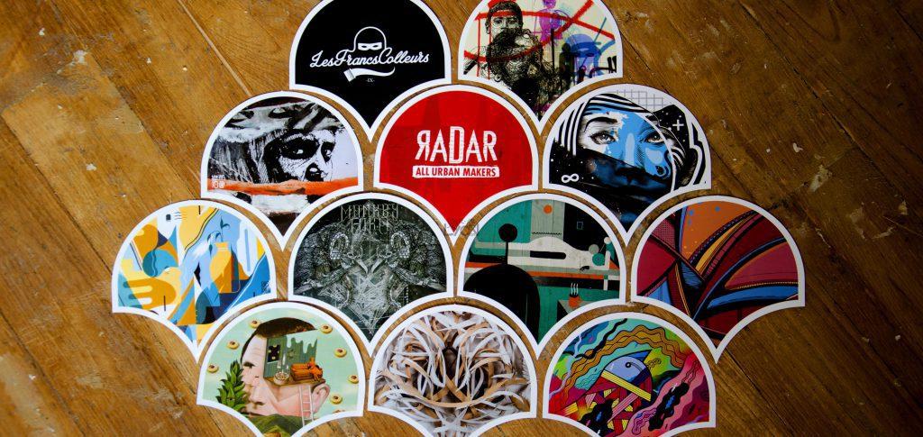 stickers augmentés - francs colleurs